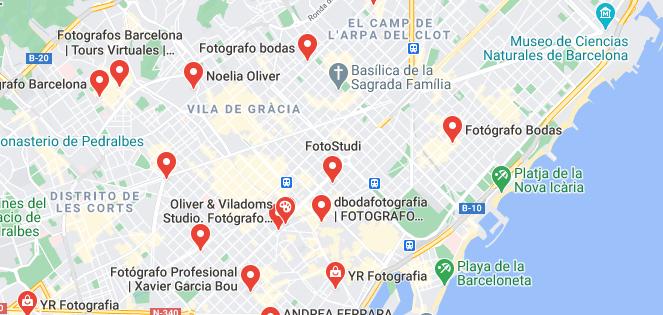 google maps barcelona fotografia